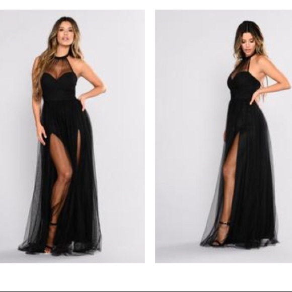 856c6a5cb0 NWT FASHIONNOVA Off The Tulle Gown- Small-Black